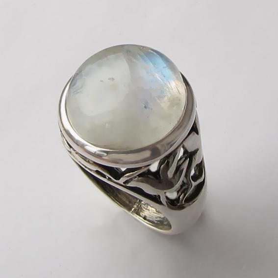 Кольцо с лунным камнем, арт. КУ314