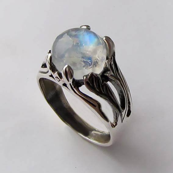 Кольцо с лунным камнем, арт. ЛИА311
