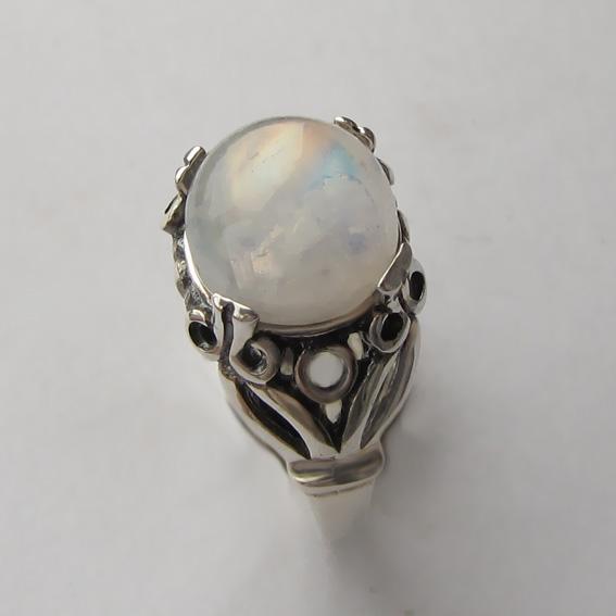 Кольцо с лунным камнем, арт. ЕФ3