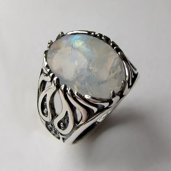 Кольцо с лунным камнем, арт. ОГ3