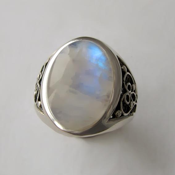 Кольцо с лунным камнем, арт. ПЕРОВ3
