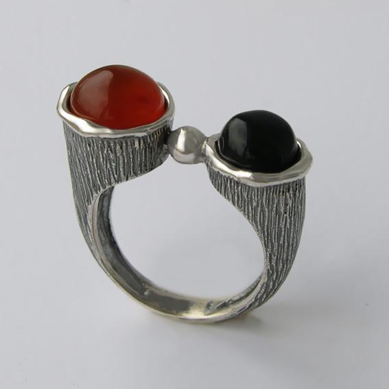 Кольцо с сердоликом, агатом, арт.САТЧ3П