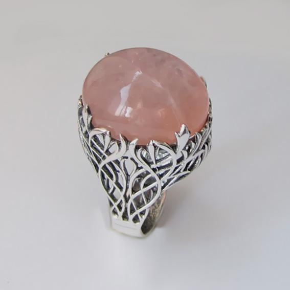 Кольцо с морганитом, арт. ЛИ315