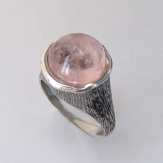 Кольцо с морганитом, арт. ПЕ3