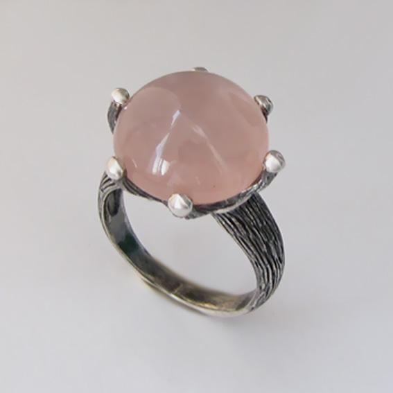 Кольцо с морганитом, арт. ВАС315