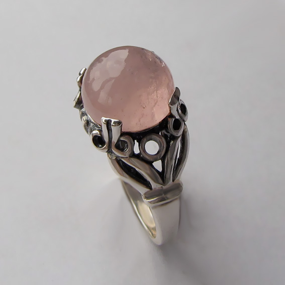 Кольцо с морганитом, арт. ЕФ3