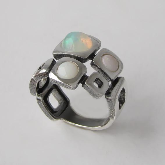Кольцо с опалом, арт. 8КВ3