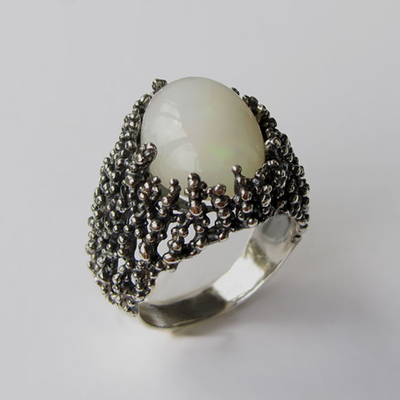 Кольцо с опалом, арт.ГАУ3