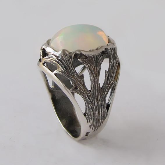 Кольцо с опалом, арт. ЛИН312