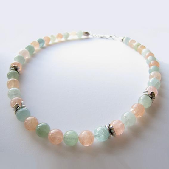 Ожерелье ЦВ102 аквамарином