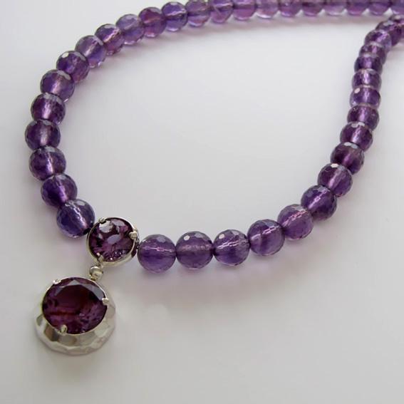 Ожерелье с аметистом, арт.ИГ112