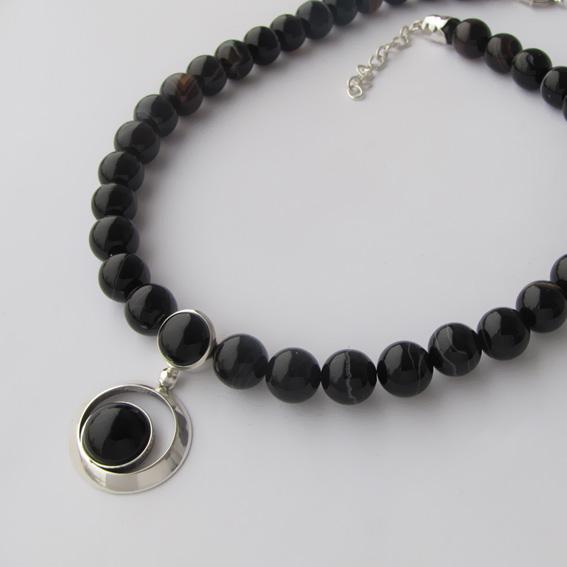 Ожерелье КК10 с агатом