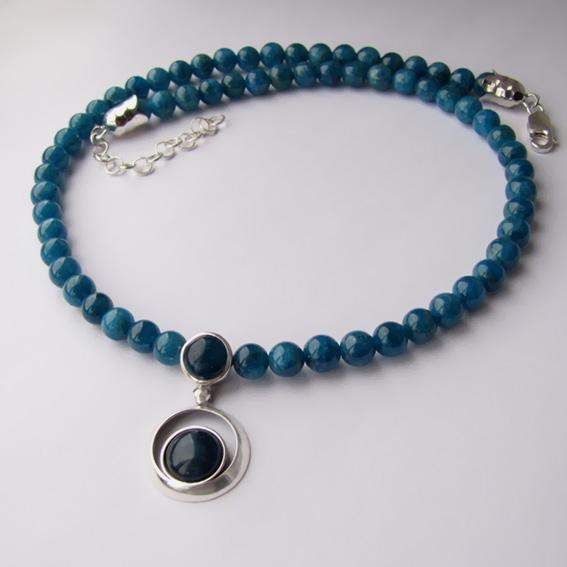 Ожерелье с апатитом, арт. КК1010