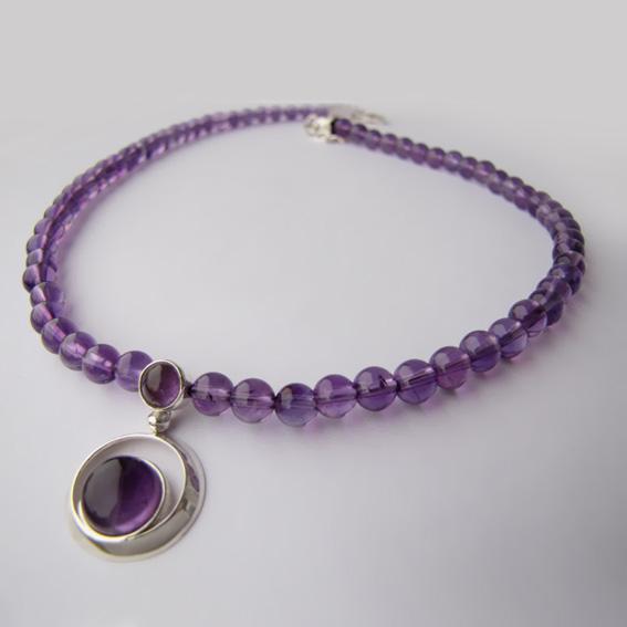 Ожерелье с аметистом, арт.КК10М