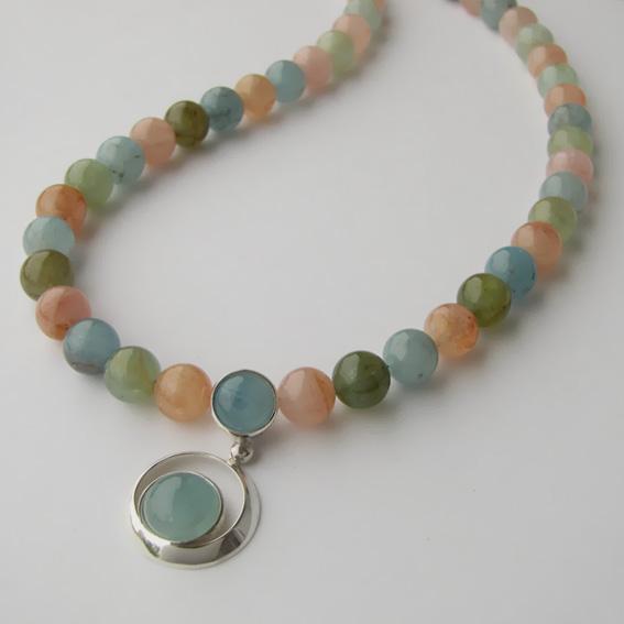 Ожерелье КК10М с аквамарином