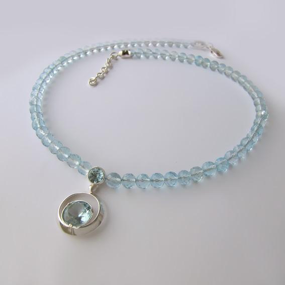 Ожерелье с топазом арт.КК1010