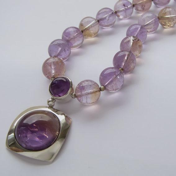 Ожерелье с аметрином, арт.КВ10