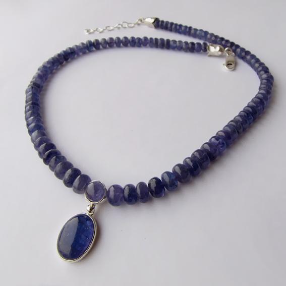 Ожерелье с танзанитом, арт. ОВ1013