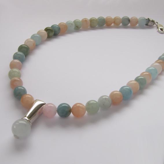 Ожерелье ПЛ10 с аквамарином