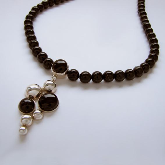 Ожерелье ВИ10 с агатом