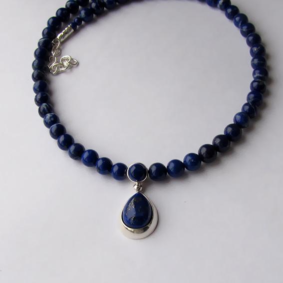 Ожерелье с лазуритом, арт. СЛ10