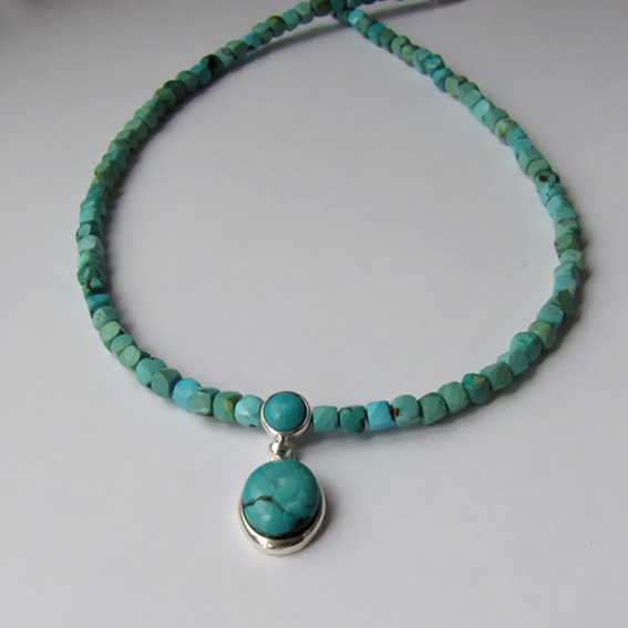 Ожерелье с бирюзой, арт. КВ10