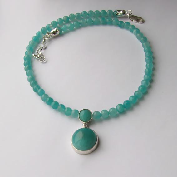 Ожерелье с амазонитом НК1015