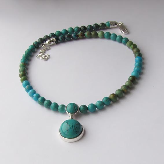 Ожерелье с бирюзой, арт. НК1015