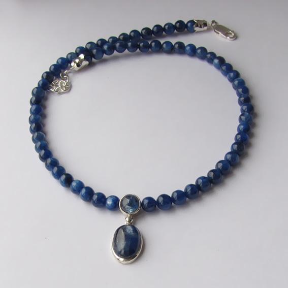 Ожерелье с кианитом, арт. ОВ1010