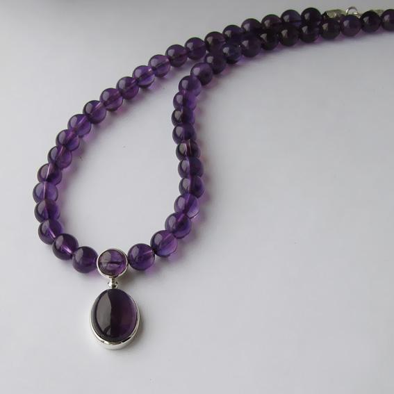 Ожерелье с аметистом, ОВ1013