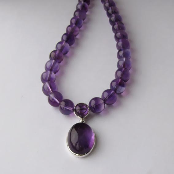 Ожерелье с аметистом, ОВ1015В