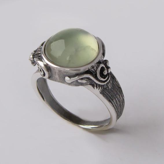 Кольцо с пренитом, арт.БРОВ3