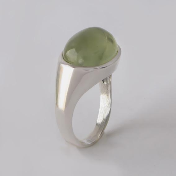 Кольцо с пренитом, арт.КОВ310