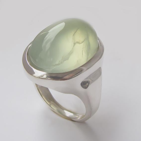 Кольцо с пренитом, арт.ОВН315