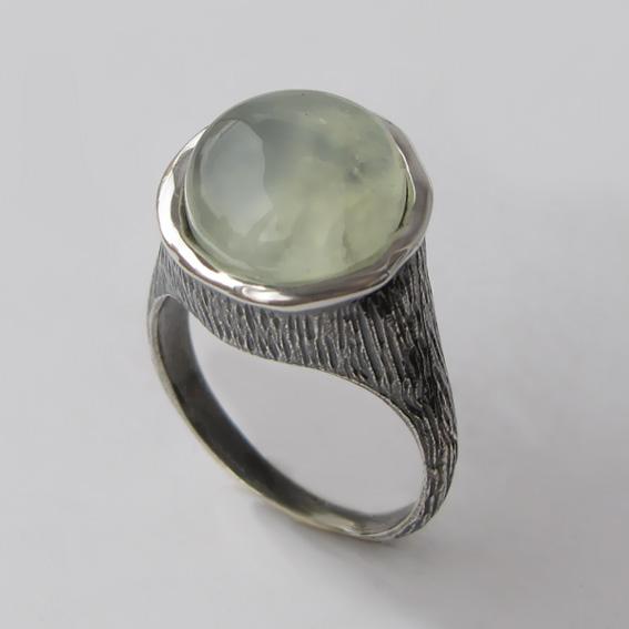 Кольцо с пренитом, арт. ПЕ3