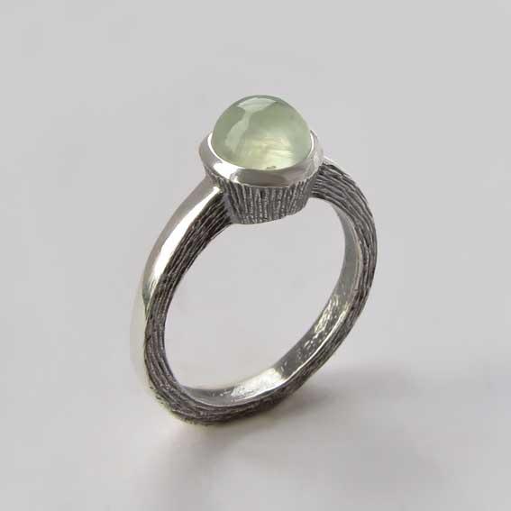 Кольцо с пренитом, арт.ПФ38