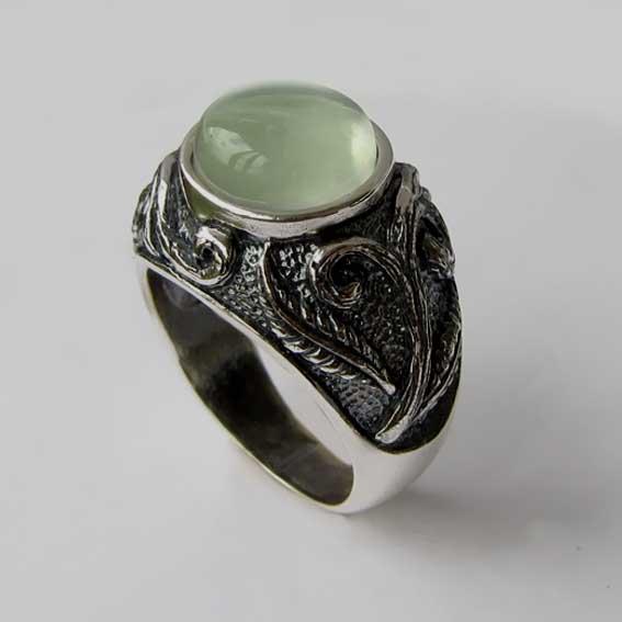 Кольцо с пренитом, арт.ШАХ3М