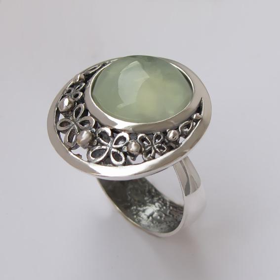 Кольцо с пренитом, арт. УЗ312