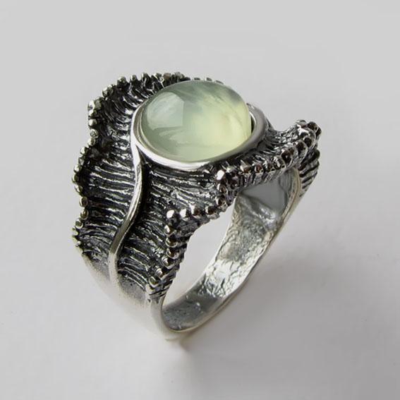 Кольцо с пренитом, арт.ВОЛ32