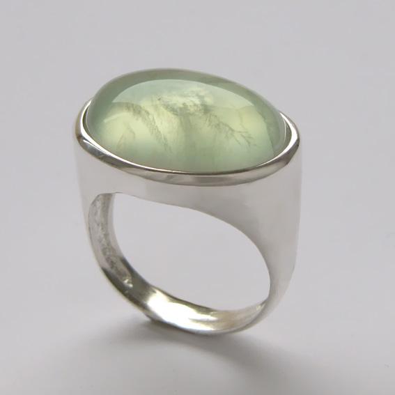 Кольцо с пренитом, арт.ВОВ313