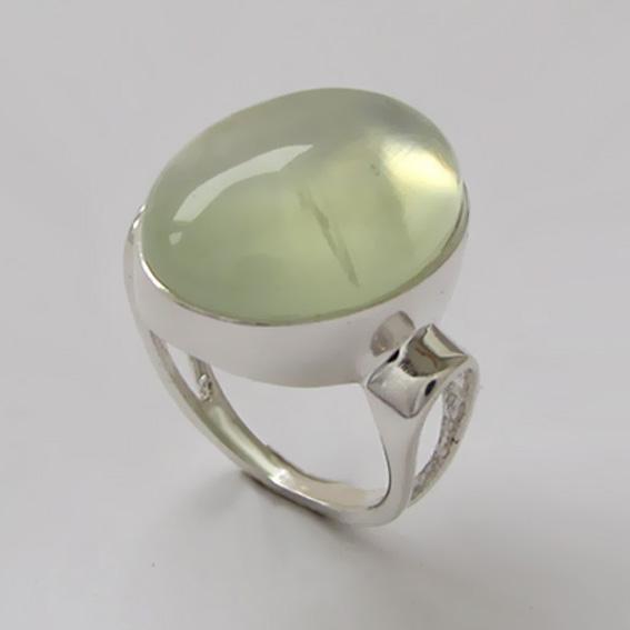 Кольцо с пренитом, арт. ЗЕ313