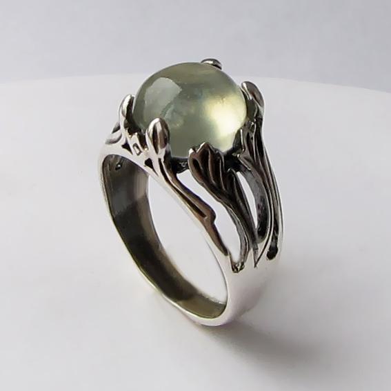 Кольцо с пренитом, арт. ЛИА311