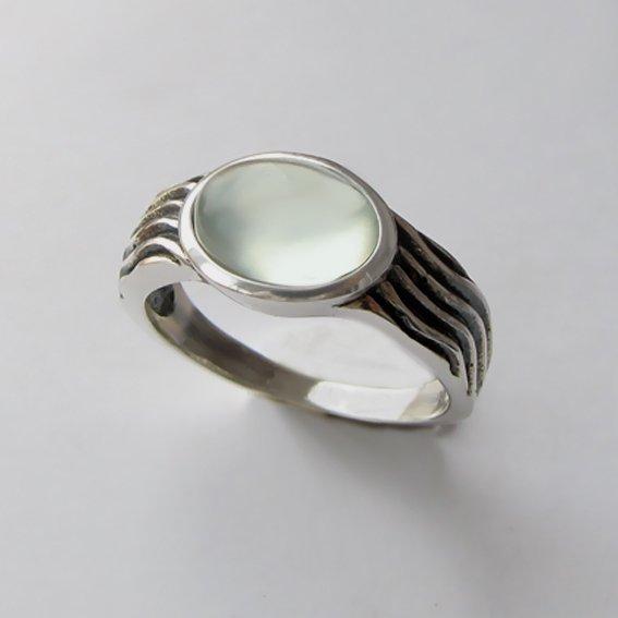 Кольцо с пренитом, арт. МОР3