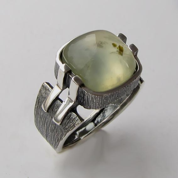 Кольцо с пренитом, арт.МП3