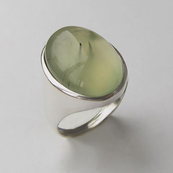 Кольцо с пренитом, арт.ОВН313