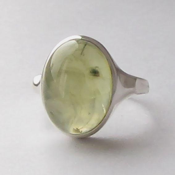 Кольцо с пренитом, арт. ЗЕ312