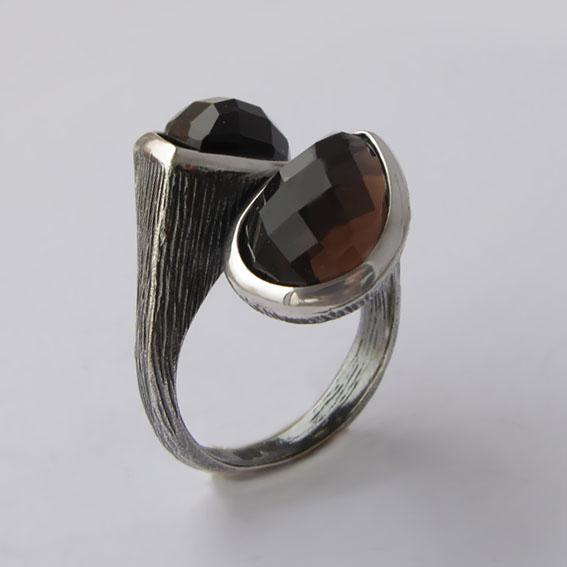 Кольцо с раухтопазом, арт.2СЛЧ3Г