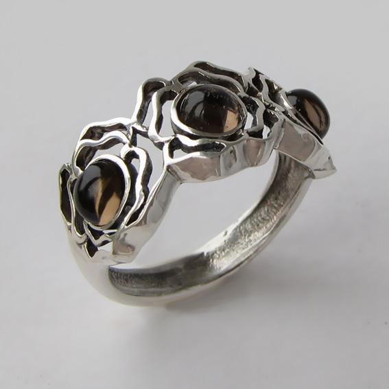 Кольцо с раухтопазом, арт. 3ОР3