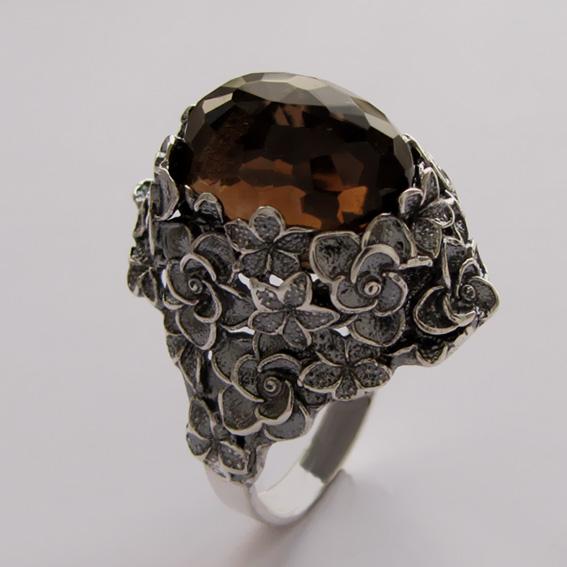 Кольцо с раухтопазом, арт.БУКГ3