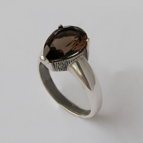 Кольцо с раухтопазом, арт.СЛГ310